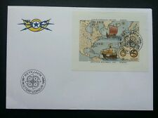 Iceland Discovery Of America 1992 Sailboat Ship Map Vehicle Transport (FDC)