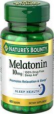 Paquete de 2 - Nature's Bounty Melatonina 10 Mg Cápsulas 60 Pastillas Cada Uno