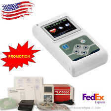 US sale 12 Channel Dynamic ECG Holter 24 hours Recorder Free PC Software TLC5000