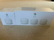 4 pack Google Nest Wifi Router and 3 Points - Snow