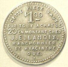 Quebec St Hyacinthe Token Lanoix Manchonier Fourrures Fur Merchant #1780