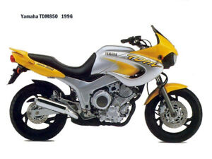 Motorcycle Canvas Picture Yamaha TDM850 1996 Canvas 16x12 inch