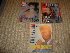 FACE magazine 1980 / 83 / 84 DAVID BOWIE - 3 ISSUES LOT -