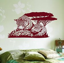 Wall Vinyl Decal Cheetah Family Leopard Jungle Savanna Animal Africa Decor z3668