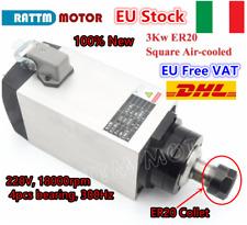 3KW Incisione CNC motore mandrino raffreddato ad aria 300Hz 18000rpm ER20 220V