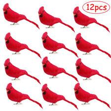 12pcs Red Artificial Birds Feather Home Garden Craft Shop Wedding Decor Ornament