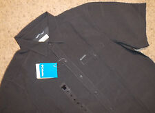 COLUMBIA Victory Butte Men's Button Front Shirt S/Sleeve Modal GRAY Size M NEW