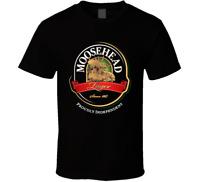 New Moosehead Beer Retro Advertising Canadian Beer Mens Black TShirt Size S-2XL