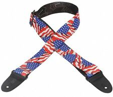 "Levy's MP-09 2"" Poly Guitar Strap - USA Flag"