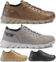 CAT CATERPILLAR Rexes en Cuir Sneakers Baskets Chaussures pour Homme Nouveau