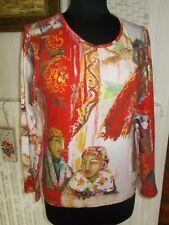 Tee shirt coton rouge stretch imprimé femmes AVENTURES DES TOILES 42