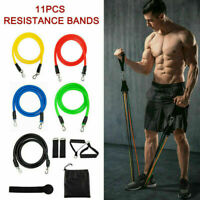 11Pcs Set Resistance Bands Workout Exercise Crossfit Yoga Fitness Training Tubes