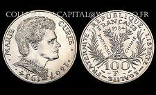 100 Francs MARIE CURIE. 1984. Argent