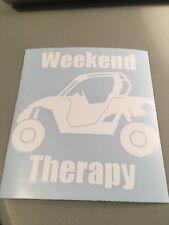 Rzr Weekend Therapy Vinyl Die Cut Decal,funny,razor,car,truck,diesel,farm,atv