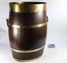Umbrella Stand/Umbrella- Barrel Wood Brass For 1920 - 1930 AL1106