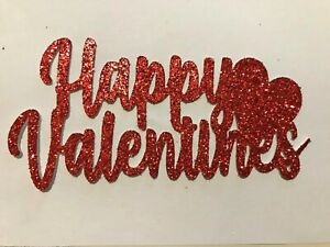 Happy Valentines Red Cake Topper Add Any Name FREE UK P&P