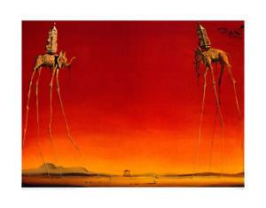 Les Elephants - Salvador Dalí - Fine Art Giclee Print Poster (60 x 80)