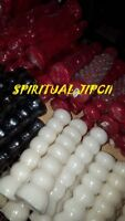 7 Knob WHITE Spell Candle WISH Ritual Pagan Wicca Witchcraft Hoodoo Witch