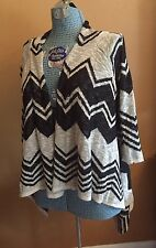 Maurices Cardigan Knit Sweater Shawl Boho Wrap Womens M Open Front