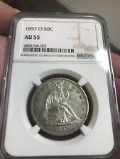 1857-o  Seated  Liberty half dollar   , choice AU , Ngc au55