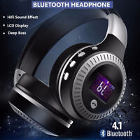 Wireless Bluetooth Headphones With Noise Cancelling Over-Ear Stereo Earphones E
