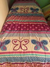 Butterflies, Hearts & Flowers Kids Twin Bedding Set Purple,Teal & Pink