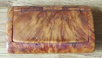 Treen wood vintage Victorian antique snuff box