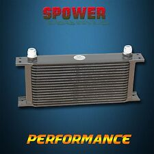 Universal 17 Row AN10 Engine Transmission 248mm Oil Cooler Mocal Style Black