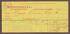 1897 Montgomery & Co Tools & Supplies Billhead New York to Daimler Motor Co.