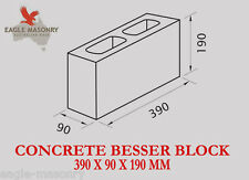 Concrete Blocks -  390 x 90 x 190 (10.01)