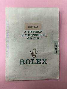 Original Vintage Rolex Watch 68158 / R813970 Used   Certificate Guarantee A50