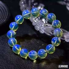 AAAAA Dominican Sky Blue Amber Bead Bracelet - 12mm / 16Beads