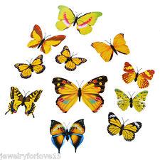 FL:3D Schmetterlinge 12er Set Wanddekoration Wandtattoo Wandsticker Mehrfarbig