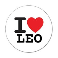 I love LEO - Aufkleber Sticker Decal - 6cm