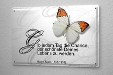 Blechschild Sprüche Schmetterling schönster Tag Metall Wand Deko Schild 20x30 cm