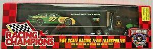 RACING CHAMPIONS #97 JOHN DEERE 1:64 SCALE RACING TEAM TRANSPORTER