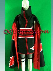 N aruto Shippuuden Sakura Haruno Akatsuki Costume Cosplay