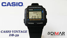 VINTAGE CLASSIC CASIO COLLECTION DB-59W-1V DATA BANK TELEMEMO MULTILINGUAL