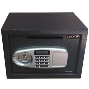 Hollon DP-25EL Boltable Drop Slot Safe, Electronic Lock, Override Keys