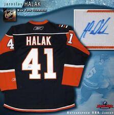 JAROSLAV HALAK Signed New York Islanders Navy Blue RBK Jersey