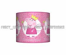 PEPPA PIG PRINCESS ☆ CEILING LAMPSHADE ☆ GIRLS PINK LAMP SHADE ☆ MATCHES DUVET