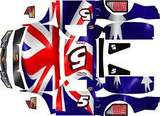 Losi 5ive T   wrap decals stickers British flag v1 team hoonage hpi baja 5t sc