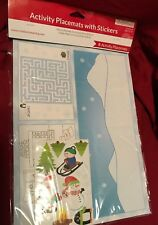 Christmas Activity Placemats With Stickers 8ct