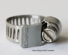 """20 Clamp-aid hose clamp safety caps for 5/16"""" wide hose clamp bands in Gray"""