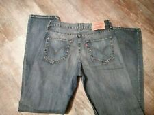Mens Levis 752 Jeans Red Tab W32 L34 Mid Blue in excellent condition