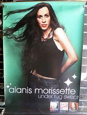 """Alanis Morissette Under Rug Swept Promotional Color 2 Sided 24""""X36"""" Vinyl Banner"""