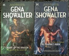 GENA SHOWALTER LORDS OF ATLANTIS TITLES PARANORMAL ROMANCE 2 BOOK LOT SHIPS FREE