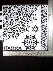 Mandala 5in1 Border Stencil Embossing Scrapbooking Cardmaking Journal Home Decor