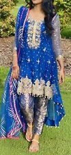 Pakistani indian party formal bridal salwar kameez dress Size S