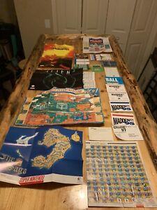 Lot of 23 Super Nintendo posters, Maps And Reg Cards. Zelda 7th Saga SNES Trek